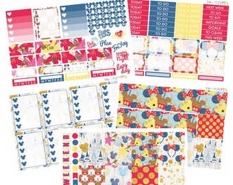 MAGICAL MEMORIES// Planner STICKERS//Individual Sheets sized for the Erin Condren Life Planner