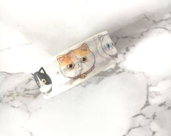 Cat Washi Tape - Funny Cat Tapes - Cat Washi Tape - Cat Washis - Cat Tape - Cat Stationery