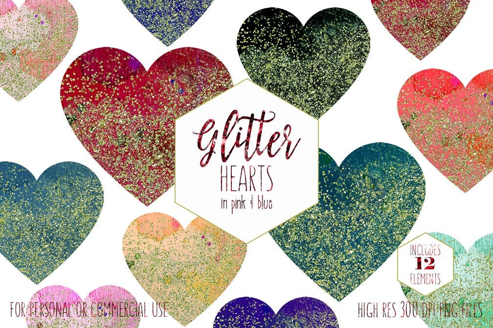 GOLD & RAINBOW HEARTS Clipart for Commercial Use Clip Art ...