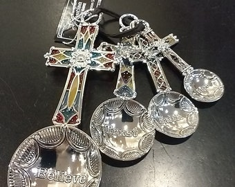 4 PC Measuring Spoon Set- Cross