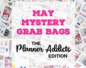 May 2018 MYSTERY GRAB BAGS | Planner Stickers | Mini Stickers | Stationery Goodies | Fantastic Value!