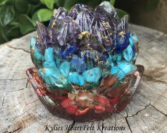 Reiki Rays Lotus Crystal Orgon