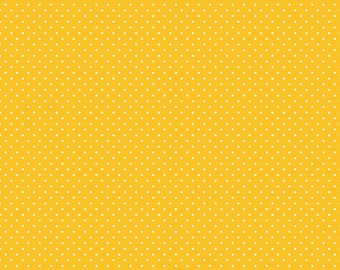 Swiss Dot Fabric - Yellow Polka Dot Fabric - Riley Blake Designs - Polka Dot Fabric - Yellow Fabric - Quilt Fabric