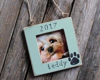 Personalized Dog Ornament, Christmas Tree Ornament, Wooden Pet Ornament