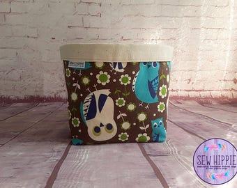 Storage Basket, Storage Tub, Owl Storage Basket, Storage Bin, Gift Basket, Home Organiser, Makeup Organiser