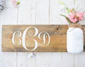 Monogram Sign | Mason Jar...