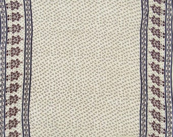 """Indian Dressmaking Fabric, White Color, Quilting Fabric, Sewing Material, 45"""" Inch Rayon Fabric By The Yard ZBR319A"""