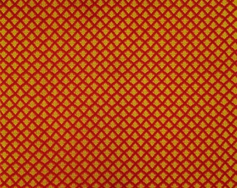 "Dressmaking Fabric, Leaf Print, Orange Fabric, Quilt Material, Home Decor Fabric, 45"" Inch Cotton Fabric By The Yard ZBC8423A"