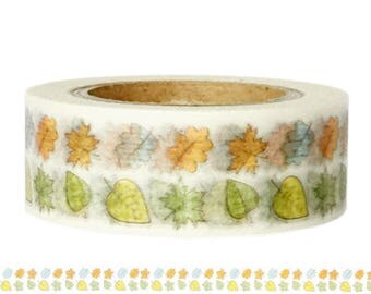 Washi Tape AUTUMN LEAVES colorful