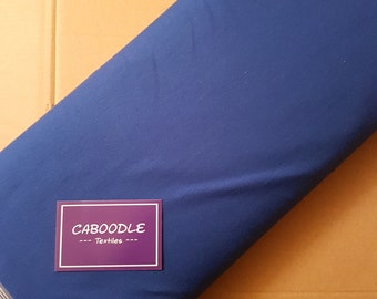 Cobalt Blue French Terry  - Quality 4 way stretch 290gsm