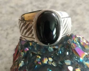 Black Onyx Ring Size 12