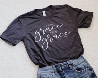 Grace upon Grace Adult T-Shirt