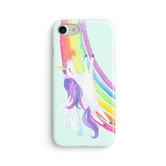 Watercolor unicorn rainbow  iPhone X case - iPhone 8 case - Samsung Galaxy S8 case - iPhone 7 case - Tough case 1P020