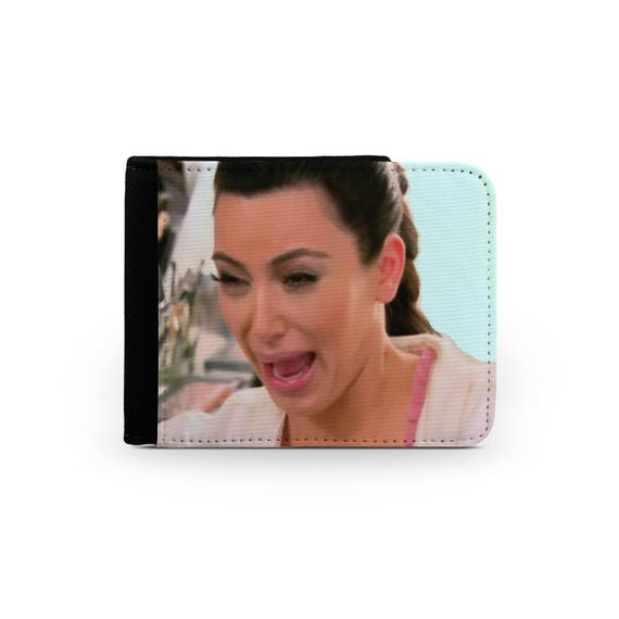 Kim Kardashian crying face wallet - Christmas present - Wallet for her - Printed wallet - 6P006