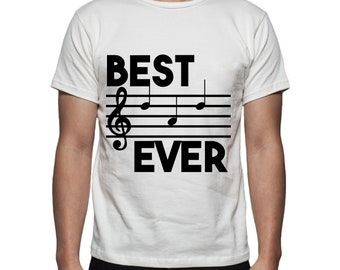 Best Dad Ever Music Tee Shirt Design, SVG, DXF, EPS Vector files for use with Cricut or Silhouette Vinyl Cutting Machines
