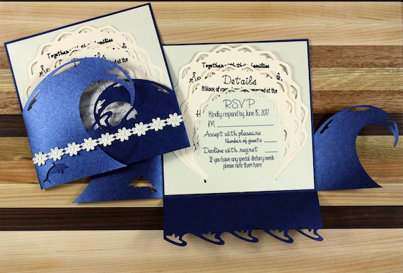 Beach Wedding Invitation Suite - Sample