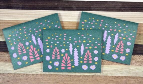 Wildflower Mountain Wedding Thank You Card Set