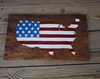 American flag decor Etsy