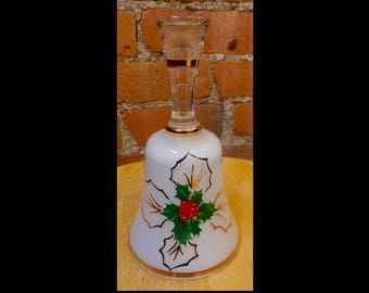 Bohemia Crystal Christmas Bell - Holly w/gold