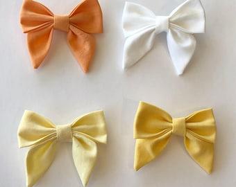 Sailor Bow-- Headband or Clip-- Four Color Choices