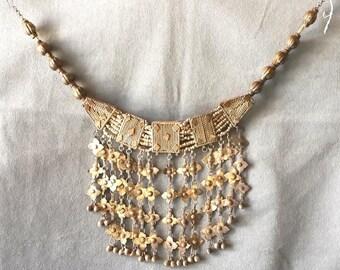 Antique Yemenite Silver Necklace Islamic Authentic 19th Century Yemen tribal Jewelry