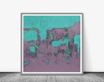 Print, contemporary art, rustic home decor, wall art abstract, digital image, abstract, turquoise and pink, Printable art , Famous art print