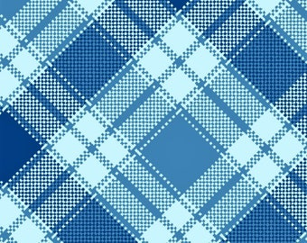 Blue Plaid Flannel, Quilting Fabric, Clothing/Apparel Fabric, Sewing Material, Home Decor/Craft Supplies, Yard/Half Yard/Fat Quarters
