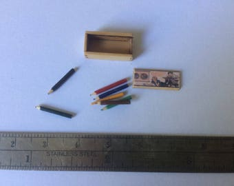 Dollshouse miniature pencil box
