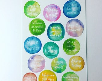 Enchanted Forest - Planner/journal srickers (qoute/word circles)