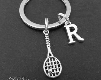 Tennis Keyring, Tennis KeyChain, Sporty Key Chain, Sporty Keyring, Personalised Keychain, Tennis Gift, Tennis Jewellery