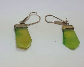 Vesuvianite Earrings Green Idocrase@ Afghanistan (2)