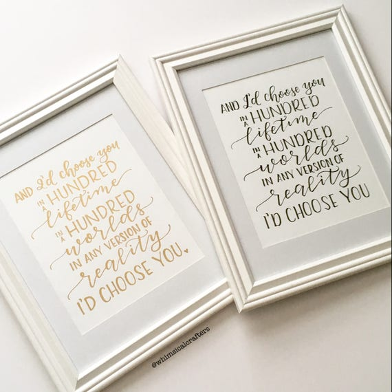 And I'd Choose You Perfect Proposal Gift Wedding