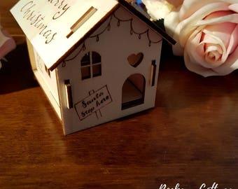 Christmas decoration, luxury Christmas ornament, Christmas bauble, Christmas house, Wooden bauble, first Christmas new home decoration,house