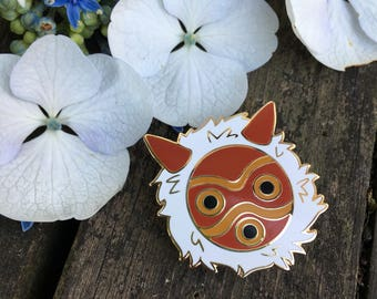 Princess Mononoke Enamel Lapel Pin