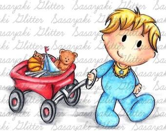 Shy's Toy Cart Digital Stamp by Sasayaki Glitter
