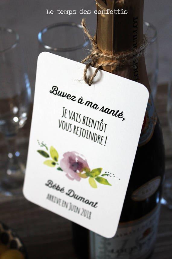 Assez Etiquette bouteille annonce de grossesse originale RC23