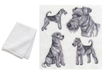 Airedale Terrier Embroidered Dog Hand Towel 100% Cotton Gift present