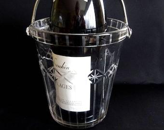 Vintage Wine Cooler, Vintage Champagne Ice Bucket, Retro Wine Cooler, Vintage Groom Gift, Vintage Bar Accessories, Barware, Vintage French