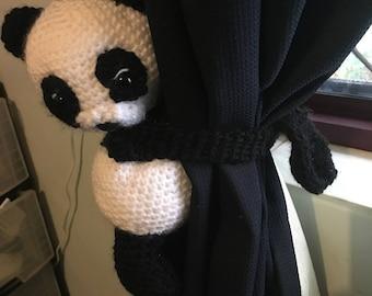 cute panda curtain tie back
