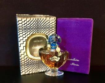 Shalimar Perfume Guerlain 1/3 oz sealed Guerlain Vintage 1960-1970 Marley Horse box