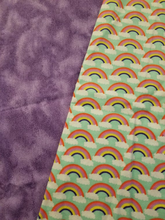 Rainbows, Weighted, Lap Pad/Small Blanket/Travel Weighted Blanket, 3 pounds,  14.5x22, Autism, SPD, PTSD, Small Weighted Blanket