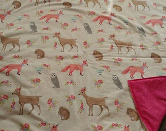 Forrest animals blanket.