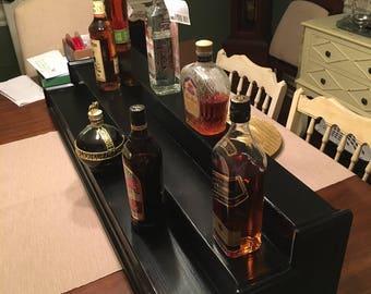 Custom liquor display shelf solid wood (4' and 3 Tier)