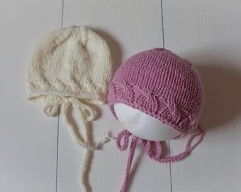 Photo prop newborn size bonnet