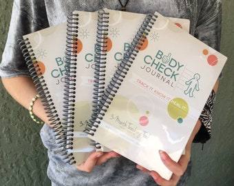 Body Check Journal - Kid's Medical Tracking Health Journal (4 pack)