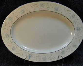 "Fine China of Japan English Garden Oval Serving Platter 14"" EXCELLENT!"