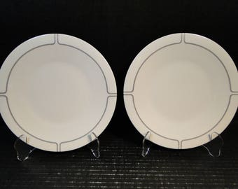 "TWO Franciscan Silver Lining Salad Plates 8 1/4"" Set of 2 EXCELLENT!"
