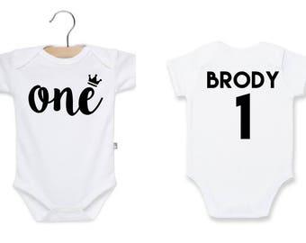 First Birthday Shirt - Boys Birthday - One Birthday - Bodysuit - 1st Birthday Outfit - Toddler Birthday - Custom - Personalized - Baby Boy