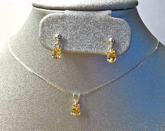 IMPERIAL TOPAZ Necklace & Earrings SET