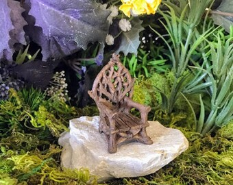 Miniature Wooden Twig Throne